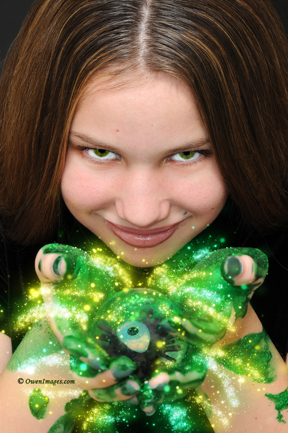 Creative Child Portrait with Eye of the Beholder by @OwenImages